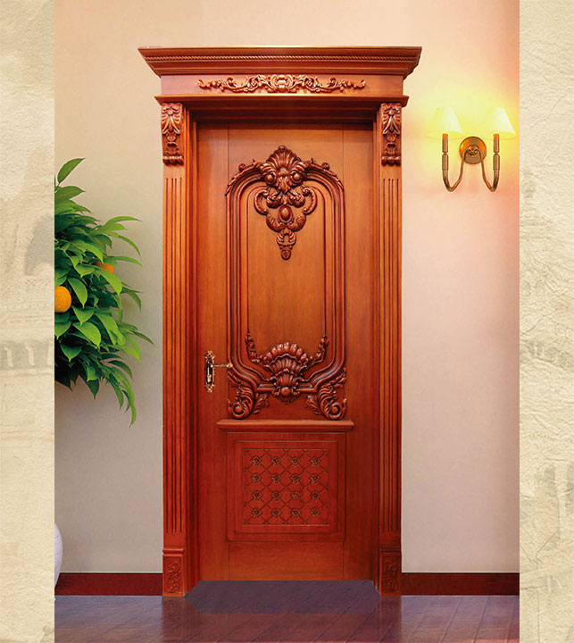 European style wooden door
