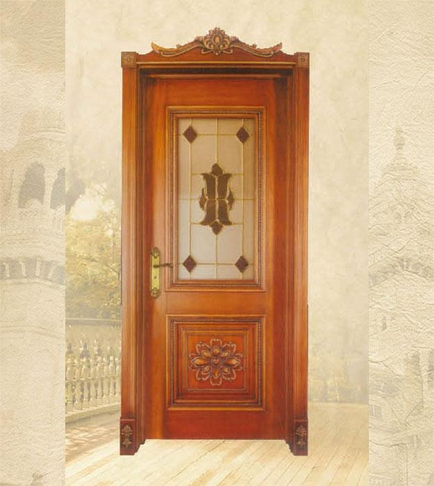 European style wooden door