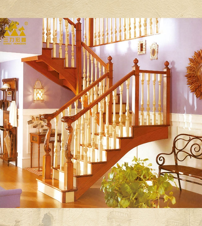 Solid wood stairs